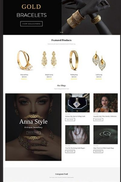 Jewellery Store Website Design Bangladesh